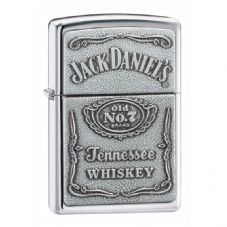 High Polish Chrome Jack Daniels Zippo Lighter
